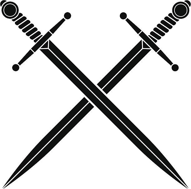 간단한 질려 swords - sword stock illustrations