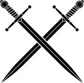 Simple crossed swords