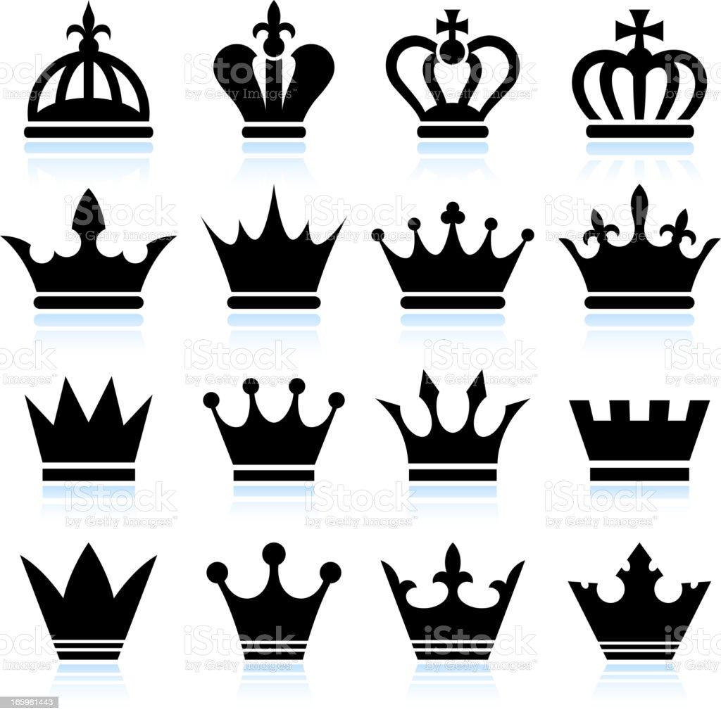 Ilustración De Simple Corona Blanco Y Negro Sin Royalties De