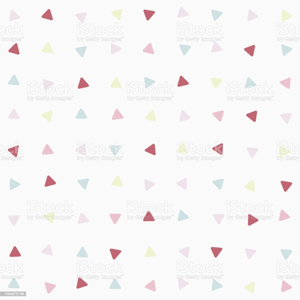 Simple Cute Curved Triangles Seamless Pattern For Background