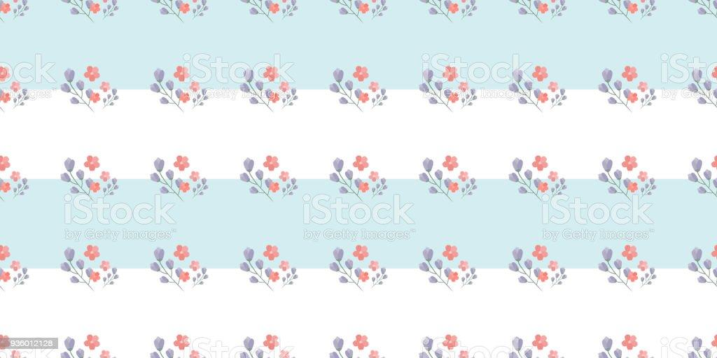 Ilustración de Simple Patrón Lindo En Pequeñas Flores Shabby Chic ...
