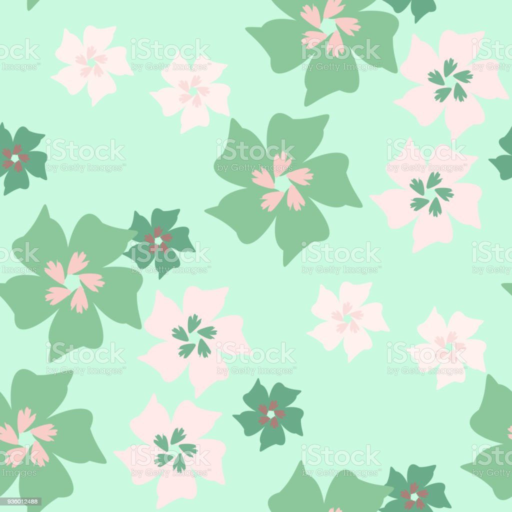 Simple Cute Pattern In Small Flowers Shabby Chic Millefleurs Floral Seamless Background For Dress