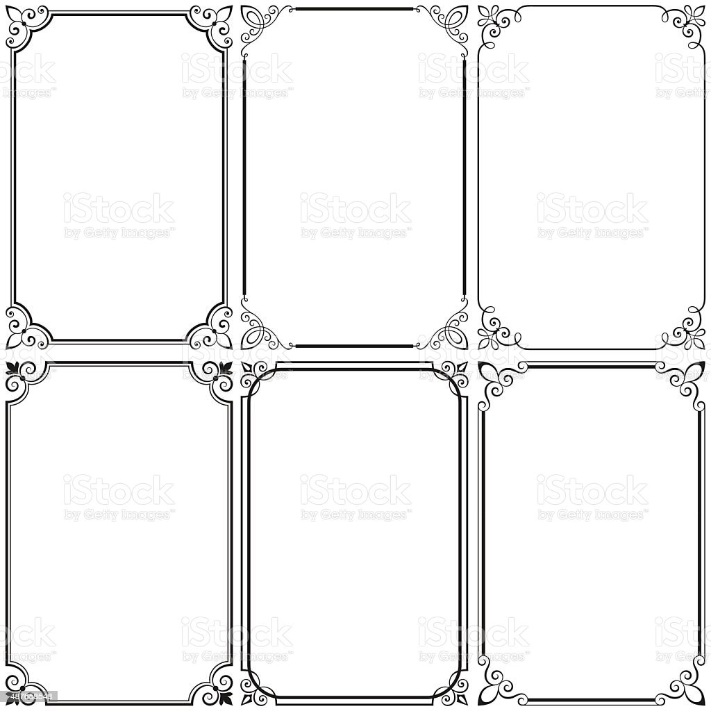 Simple Decorative Frames Stock Vector Art & More Images of 2015 ...