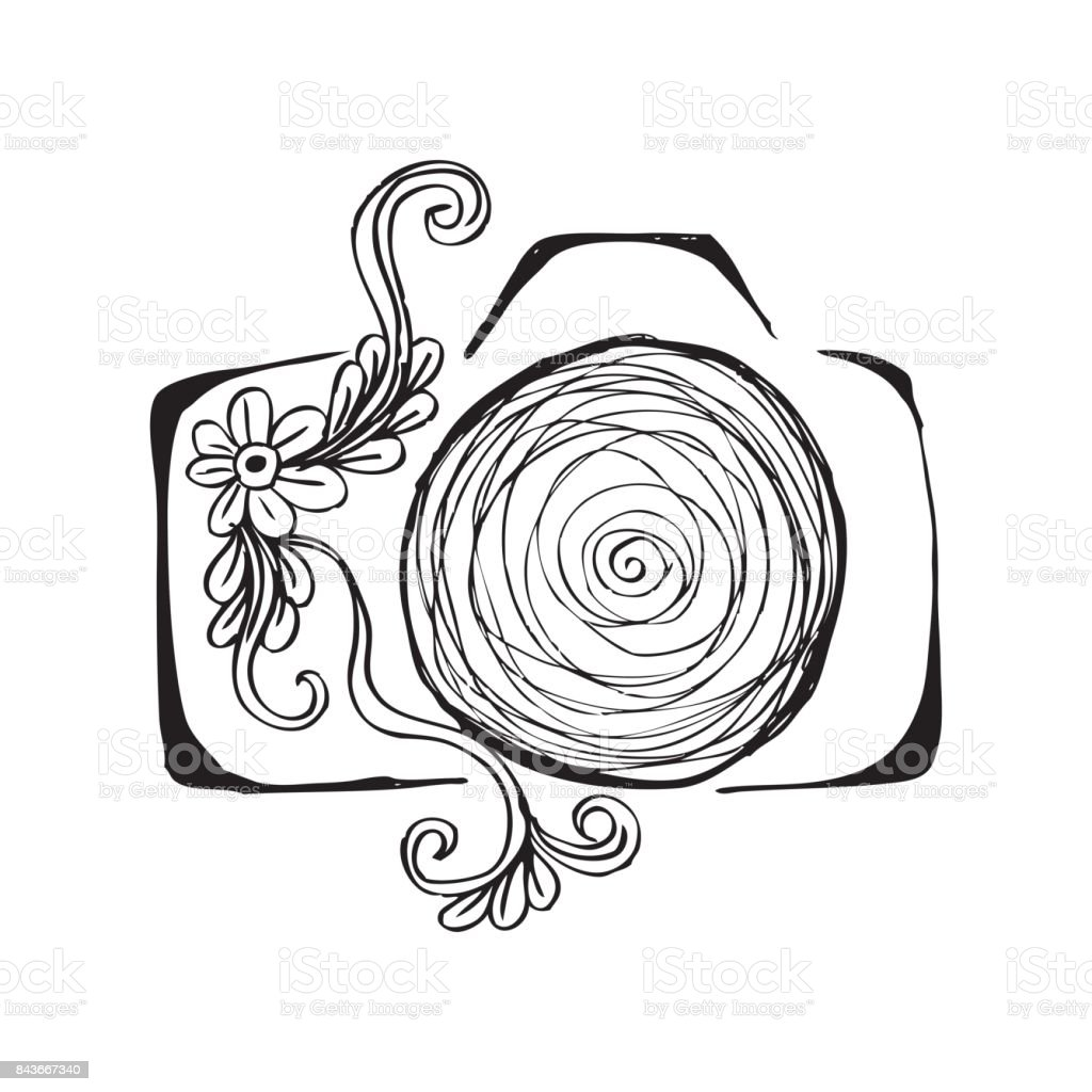 Simple Decorative Photo Camera Royalty Free Stock Vector Art Amp