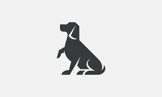 Simple Dog Silhouette Company Logo