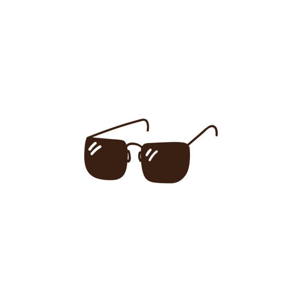 simple doodle hand drawn sunglasses illustration. vector icon art - sunglasses stock illustrations, clip art, cartoons, & icons