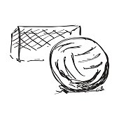 Simple doodle of a football