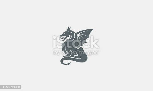 Simple Dragon Silhouette Illustration