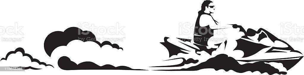 Simple dessin sur un jetski vecteurs libres de droits et plus d 39 images vectorielles de contour - Jet ski dessin ...