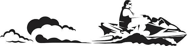 Royalty free jet ski clip art vector images illustrations istock - Jet ski dessin ...