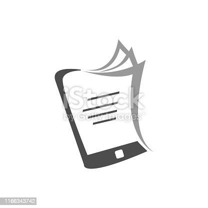 simple ebook logo vector Electronic Library icon