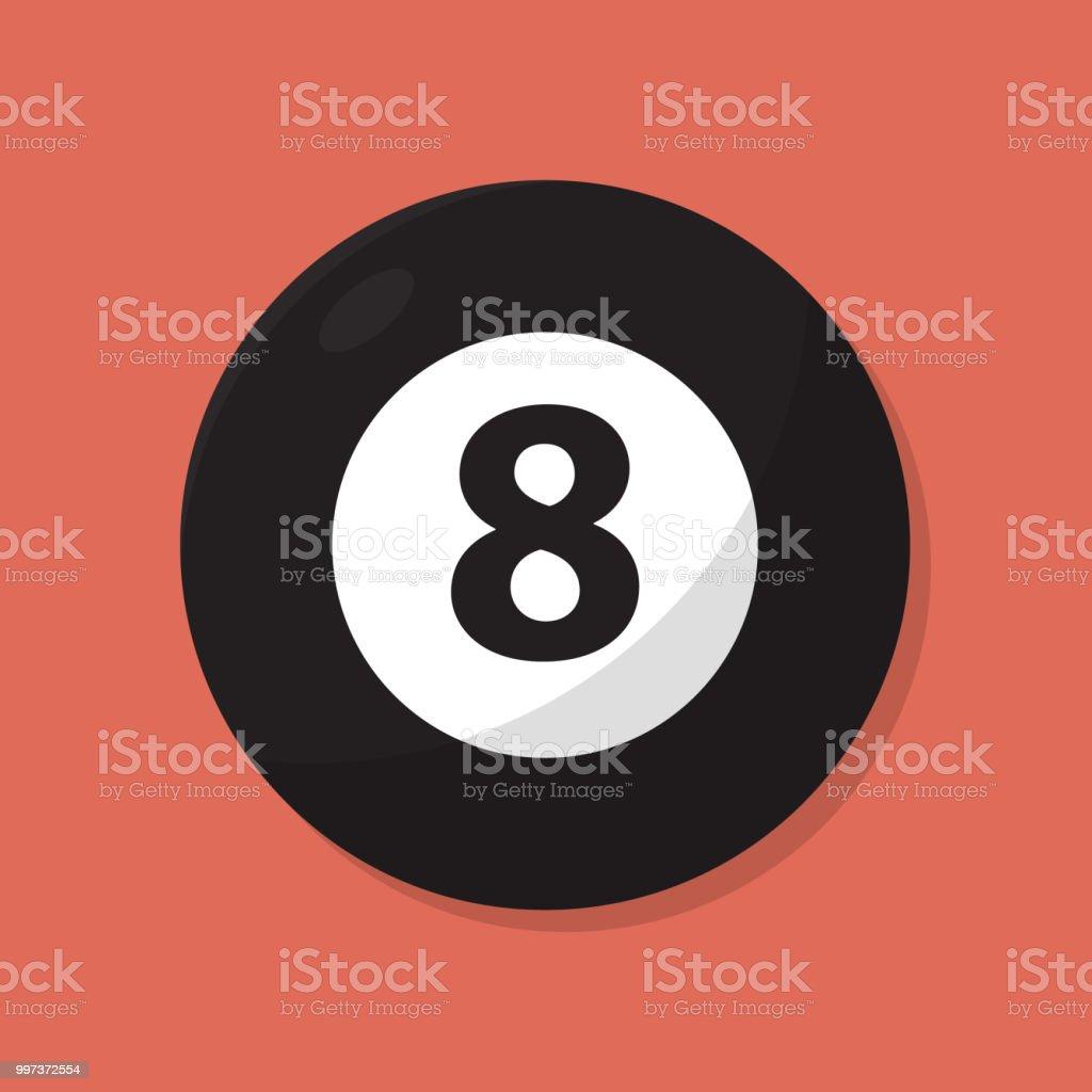 Simple Eight Ball Icon vector art illustration