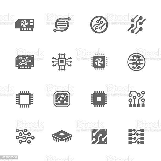 Simple Electronics Icons-vektorgrafik och fler bilder på Abstrakt