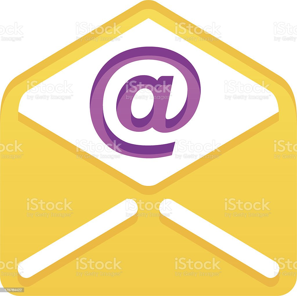 Simple e-mail royalty-free stock vector art
