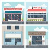 istock 4 simple exterior illustration of restaurant building 847799930