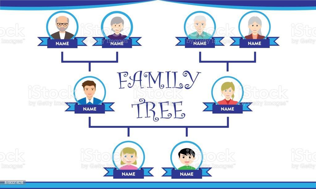 簡単な家系図 アイコンのベクターアート素材や画像を多数ご用意 Istock