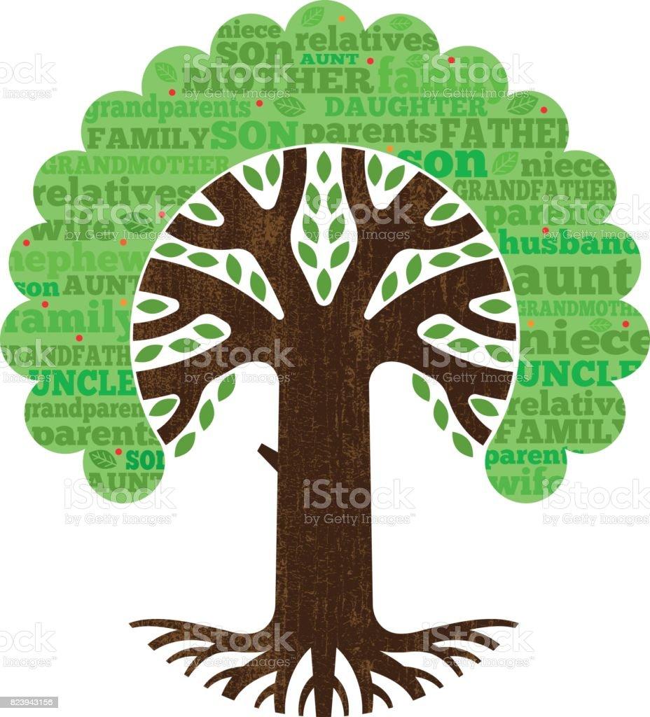Basit Soy Ağacı Vektör çizim Stok Vektör Sanatı Adamlarnin Daha