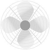 Simple Fan Vector Illustration