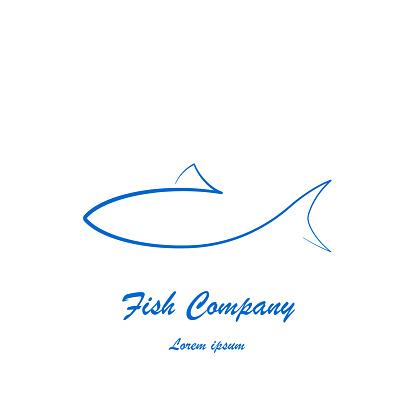 Dessin De Poisson Simple Pour Entreprise Ou Restaurant Vecteurs Libres De Droits Et Plus D Images Vectorielles De Abstrait