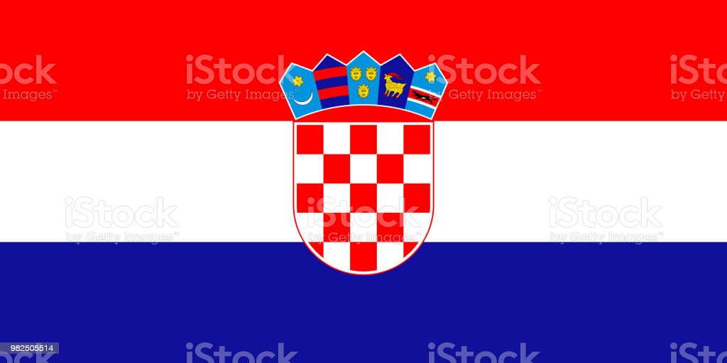 Tamaño correcto de la bandera simple, proporción, colores. - ilustración de arte vectorial