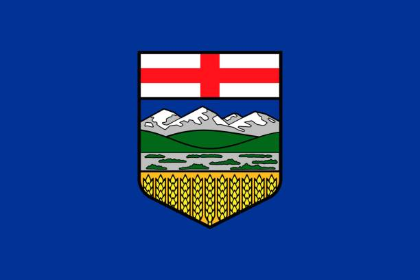 Simple flag province of Canada Simple flag province of Canada. Alberta alberta stock illustrations