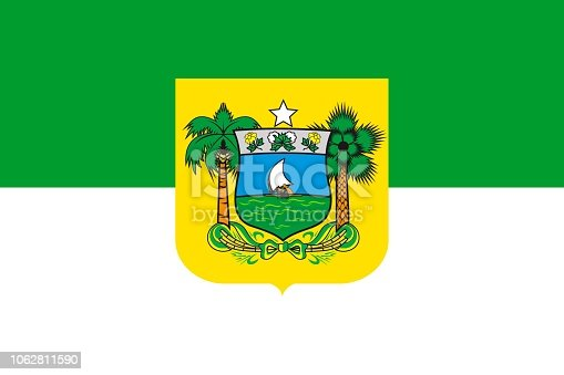 istock Simple flag state of Brazil 1062811590
