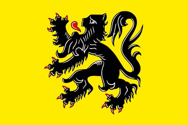 Simple flag . Vector Simple flag of Flanders is a state of Belgium benelux stock illustrations
