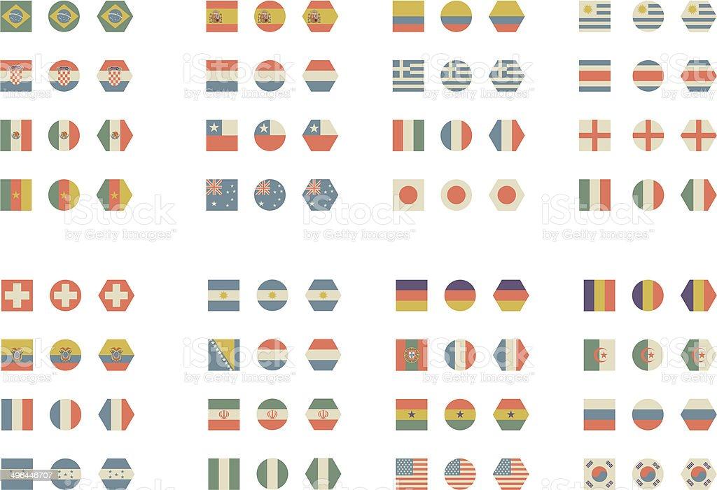 Einfache flags – Vektorgrafik