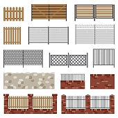 Simple flat fences.