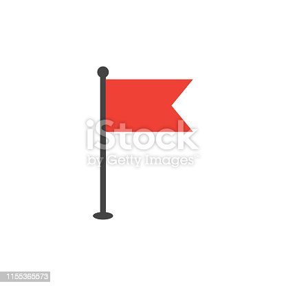 Simple flat flag icon graphic design template vector