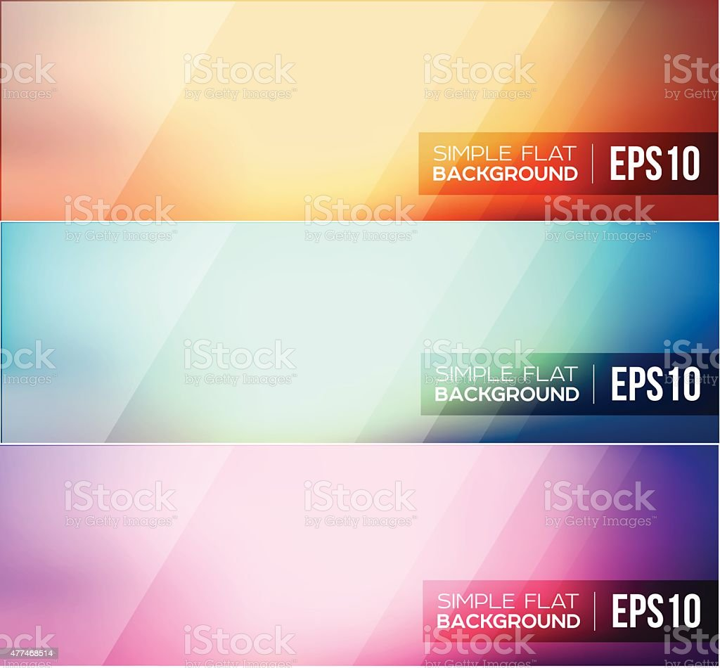 Simple flat gradient background vector art illustration