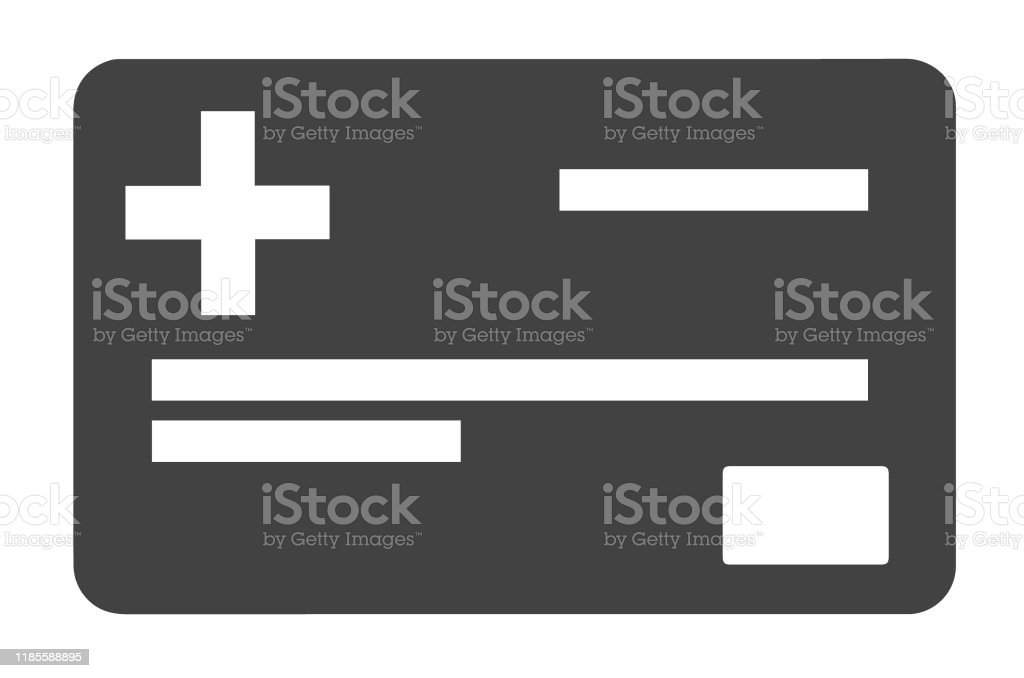 Simple Flat Vector Icon Of A Health Insurance Card Stock ...