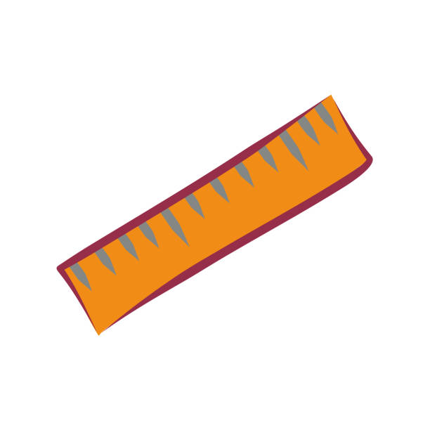 Simple flat vector ruler icon vector art illustration