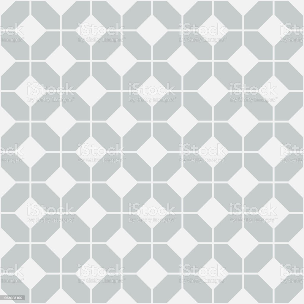 Simple floor tile pattern, abstract geometric seamless background vector art illustration