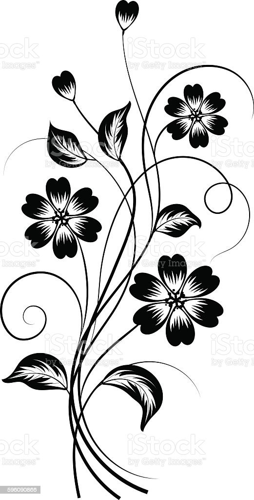 Simple floral background in black and white royalty-free simple floral background in black and white stock vector art & more images of abstract