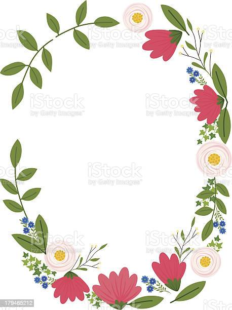 Simple Floral Frame Stock Illustration - Download Image Now