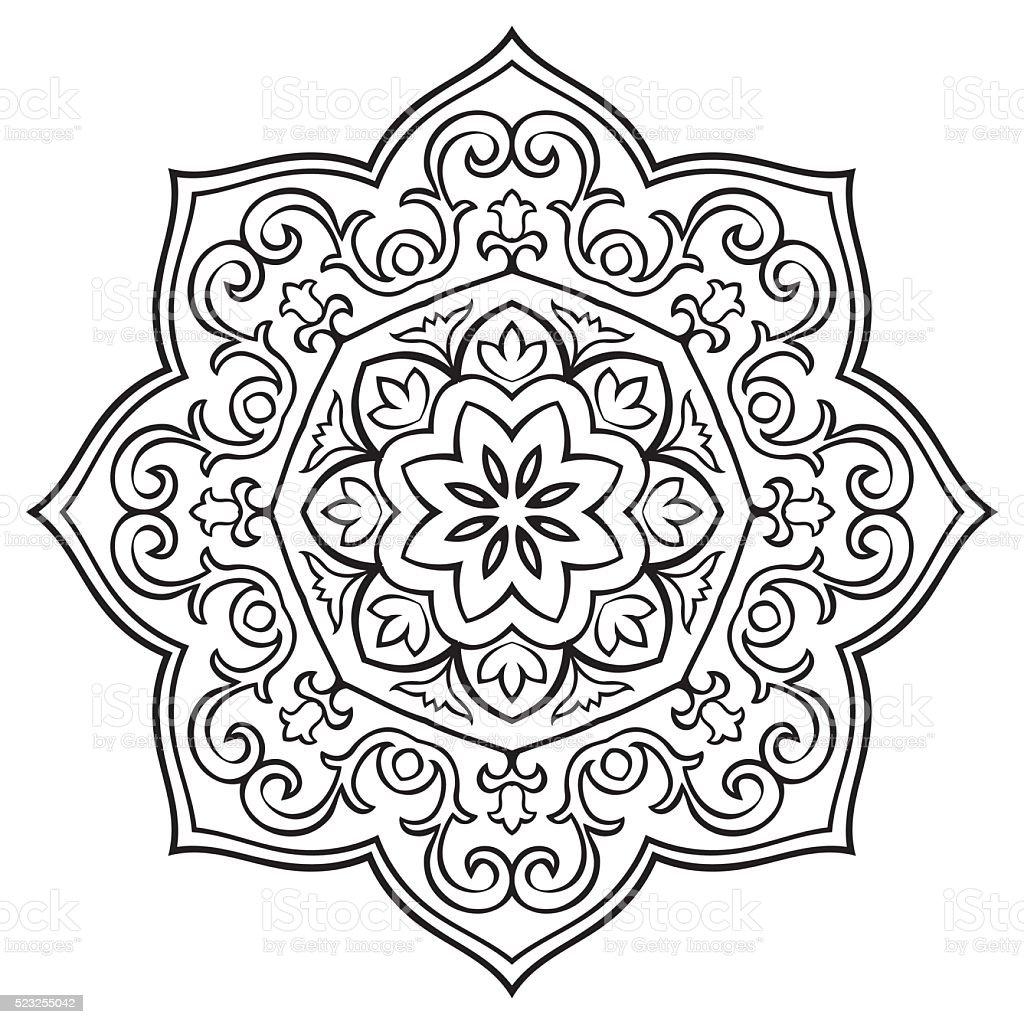 Vetores De Simples Floral Mandala E Mais Imagens De Abstrato Istock