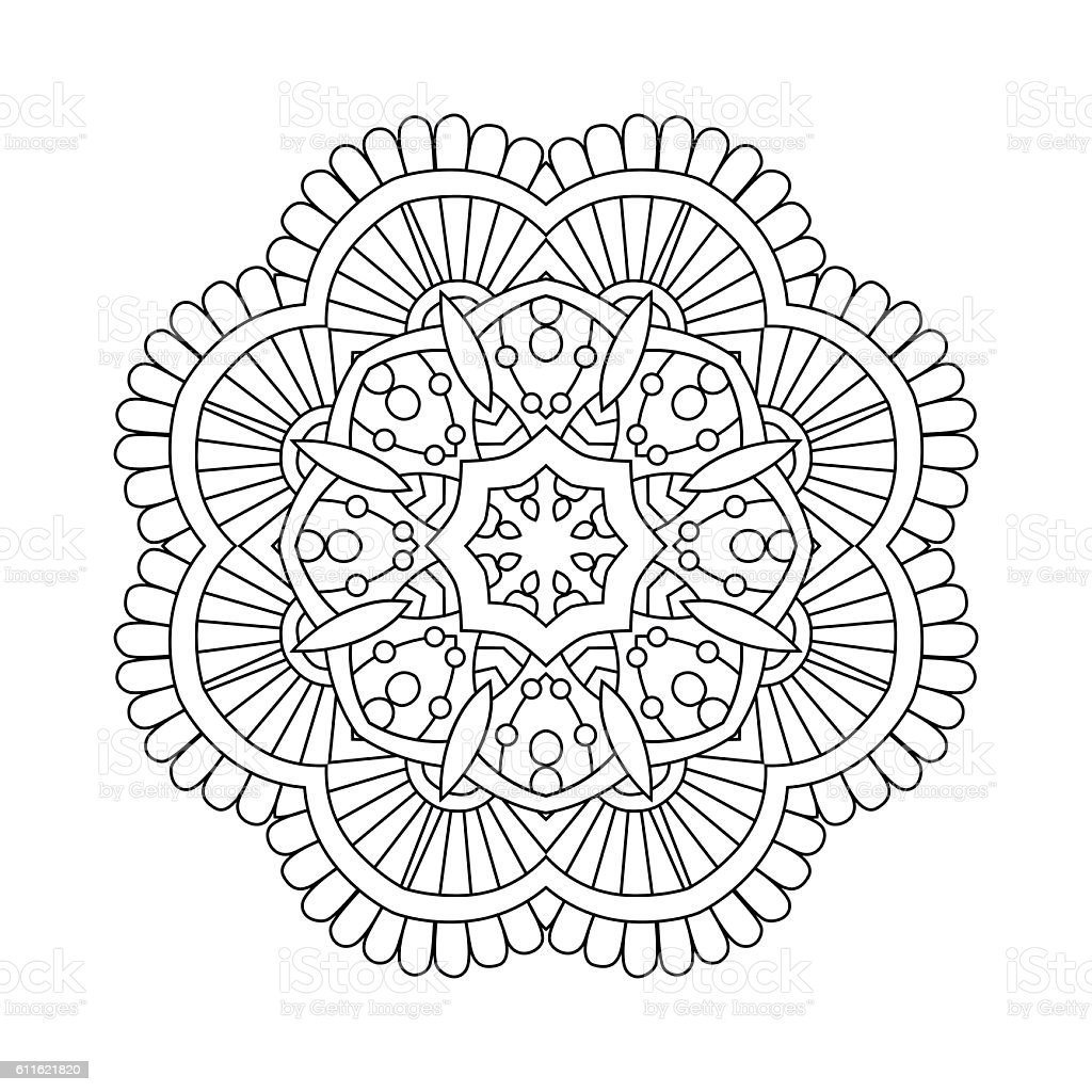 Simple Floral Mandala Stock Vector Art & More Images Of