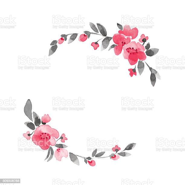 Simple floral wreath watercolor flowers 3 in vector vector id509308288?b=1&k=6&m=509308288&s=612x612&h=l6vftqkjpbi82tsfer4lyfzmoh2zpsut01ffhi7yalm=