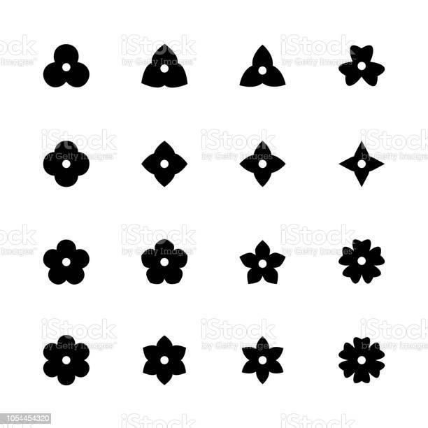 Simple flower icons set black floret silhouettes for design vector id1054454320?b=1&k=6&m=1054454320&s=612x612&h=kj1qwlcqt5cxe2jevqlmn 1qa mgmdrzpb7 uyztvki=