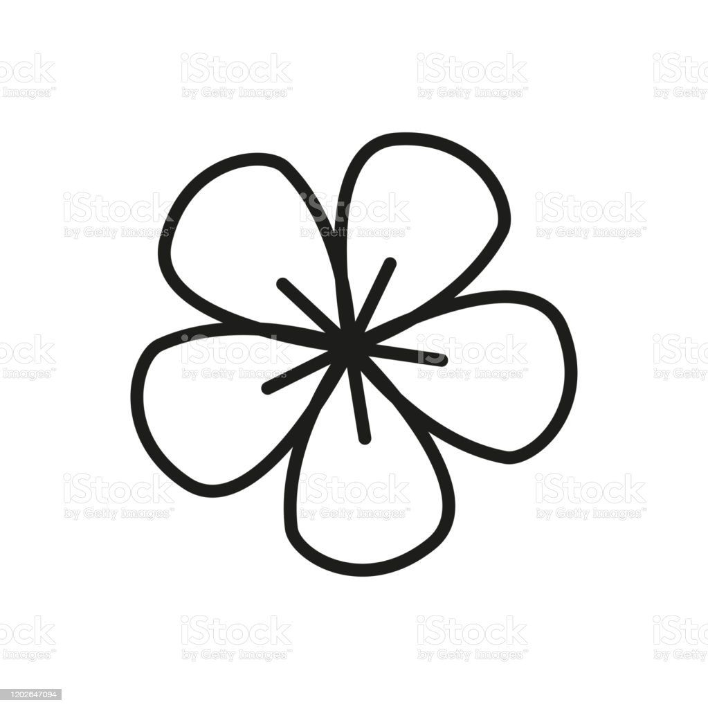 Simple Flower Line Icon Stock Illustration Download Image Now Istock