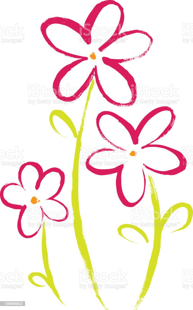Simple Flower Painting Stock Illustration Download Image Now Istock