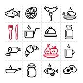 simple food icons set