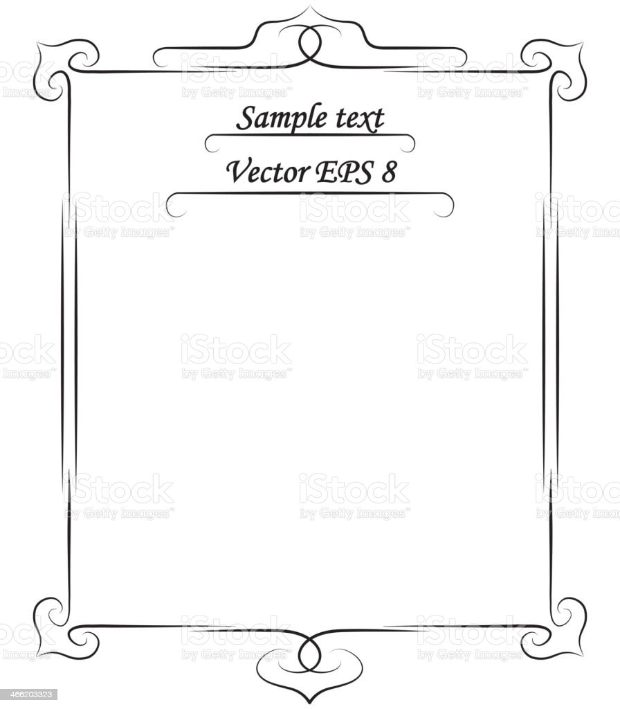 simple frame vector art illustration