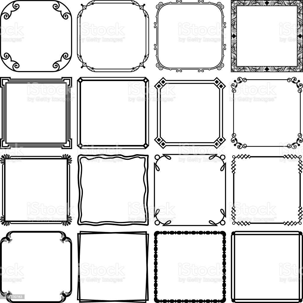 シンプルなフレーム のイラスト素材 515720783 | istock