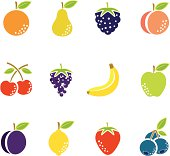 Simple Fruit Icons