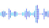 Simple Geometric Illustration - Dotted Equalizer. Data recording and playback concept.