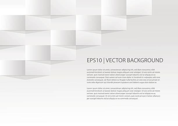 Simple geometric paper background vector art illustration