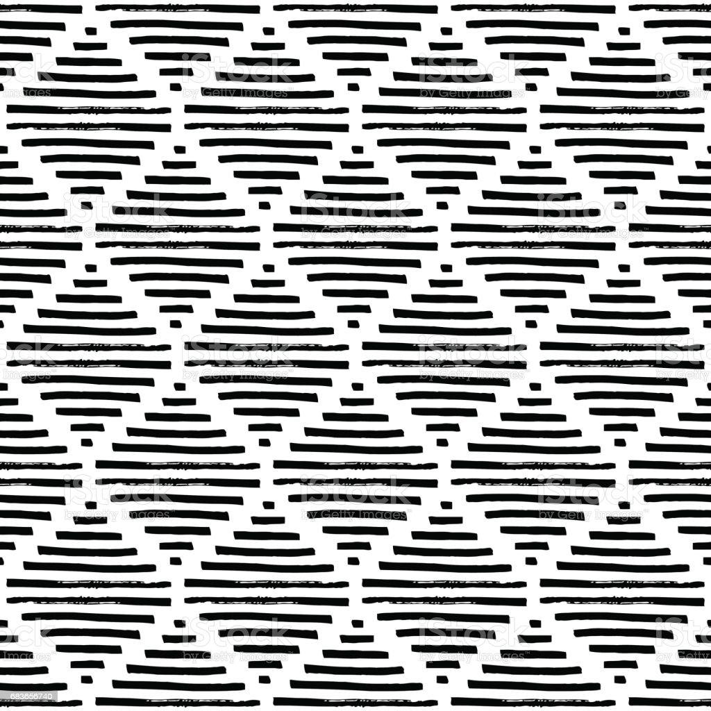 einfache geometrische muster schwarz wei ornament stock vektor art und mehr bilder von abstrakt. Black Bedroom Furniture Sets. Home Design Ideas