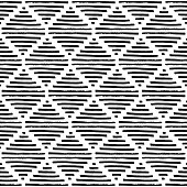 simple geometric pattern, black and white ornament, vintage elements in the form of a diamond, square, rhombus, grunge texture, vector illustration